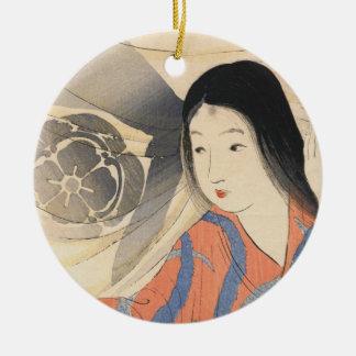 Takeuchi Keishu Tora Gozen japanese vintage lady Ceramic Ornament