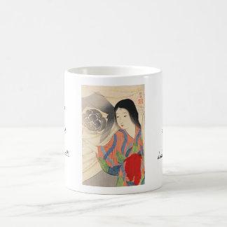 Takeuchi Keishu Tora Gozen japanese vintage lady Coffee Mug