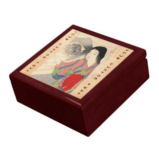 Takeuchi Keishu Tora Gozen japanese vintage lady Gift Box