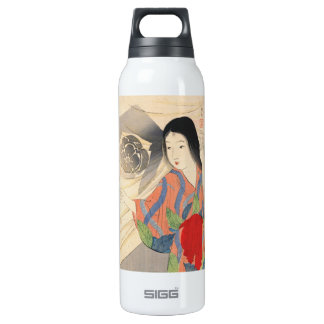 Takeuchi Keishu Tora Gozen japanese vintage lady Insulated Water Bottle
