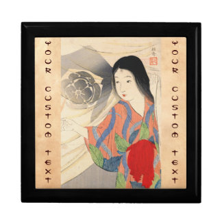 Takeuchi Keishu Tora Gozen japanese vintage lady Jewelry Box