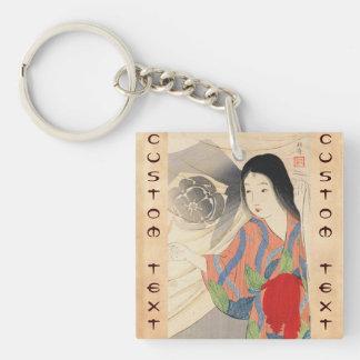 Takeuchi Keishu Tora Gozen japanese vintage lady Keychain