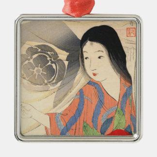 Takeuchi Keishu Tora Gozen japanese vintage lady Metal Ornament