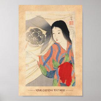 Takeuchi Keishu Tora Gozen japanese vintage lady Poster