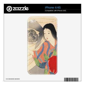 Takeuchi Keishu Tora Gozen japanese vintage lady Decal For The iPhone 4
