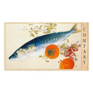 Takeuchi Seiho - Autumn Fattens Fish and Ripens Double-Sided Standard Business Cards (Pack Of 100)