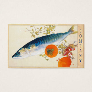 Takeuchi Seiho - Autumn Fattens Fish and Ripens Business Card