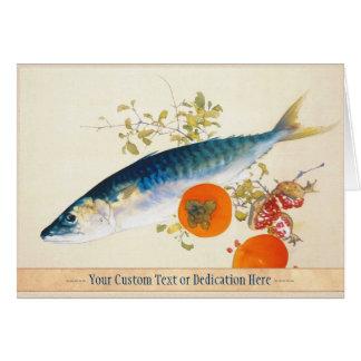Takeuchi Seiho - Autumn Fattens Fish and Ripens Card