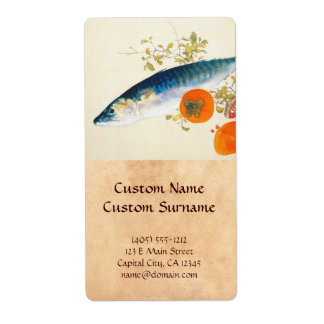 Takeuchi Seiho - Autumn Fattens Fish and Ripens Shipping Label