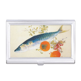 Takeuchi Seiho - Autumn Fattens Fish and Ripens Case For Business Cards