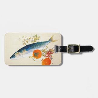 Takeuchi Seiho - el otoño ceba pescados y madura Etiquetas De Maletas