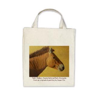 Takhi Stallion, Hustai National Park, Mongolia Tote Bags