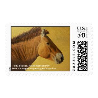 Takhi Stallion, Hustai National Park, Mongolia Postage