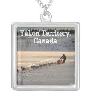 Takhini River Quest; Yukon Territory, Canada Square Pendant Necklace