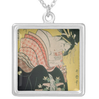 Takigawa from the Tea-House, Ogi Silver Plated Necklace