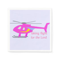 Takin' Flight for the Lord Paper Napkin