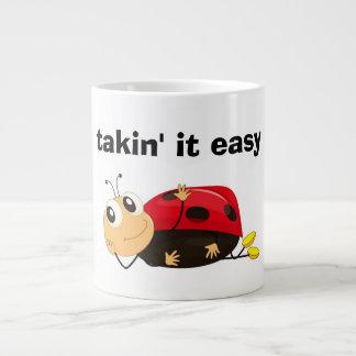 """""""TAKIN' IT EASY"""" LADYBUG GIANT COFFEE MUG"""