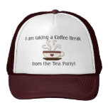 Taking a Coffee Break from Tea Party Design Trucker Hat