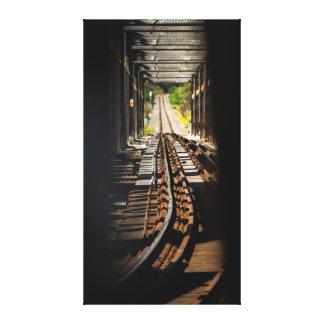 Taking a Peak at the Railway Canvas Print