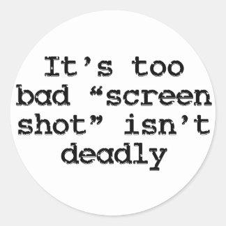 Taking a screen shot (sq) classic round sticker