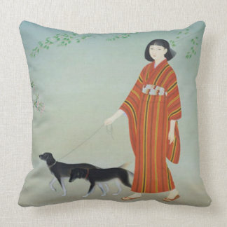 Taking a stroll square pillow