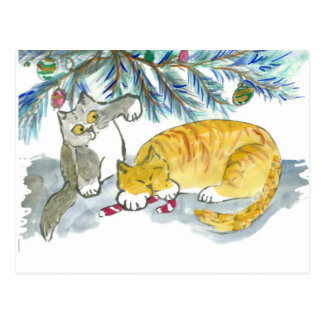 Taking Back the Candy Cane by Kitty Postcard