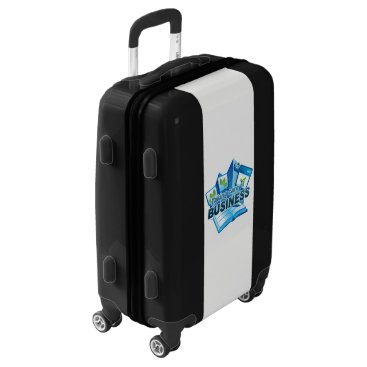 Professional Business Taking care of Business Carry On, White, White Luggage