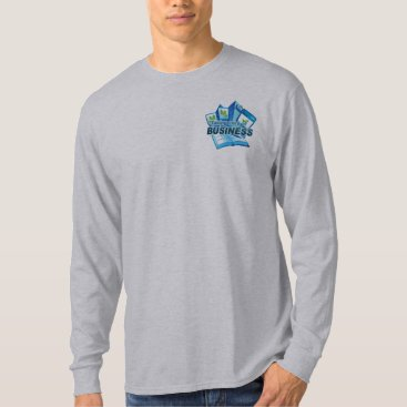 Professional Business Taking care of Business Men's grey long sleeve T-Shirt