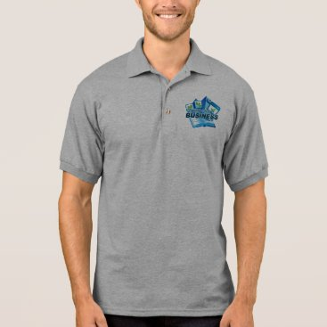Professional Business Taking care of Business Men's grey Polo Shirt