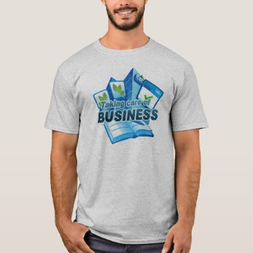 Professional Business Taking care of Business Men's grey T-Shirt