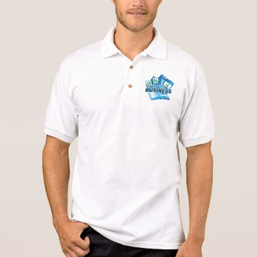 Professional Business Taking care of Business Men's white Polo Shirt