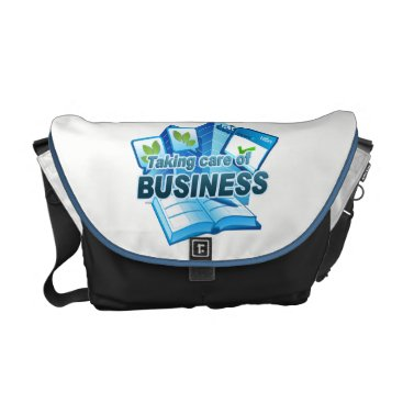 Professional Business Taking care of Business white/dark Messenger Bag