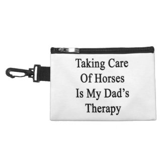 Taking Care Of Horses Is My Dad's Therapy Accessory Bags