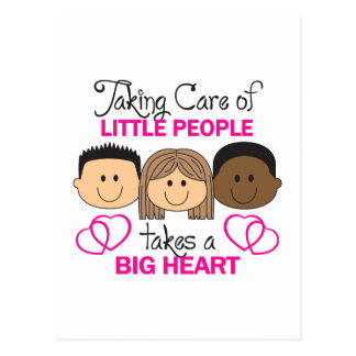 TAKING CARE OF LITTLE PEOPLE POSTCARD