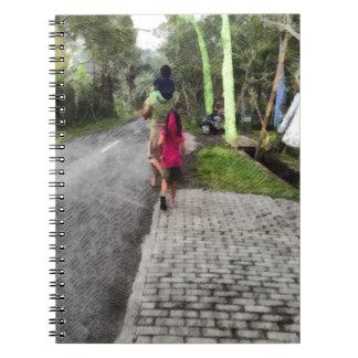 Taking children for a walk notebook