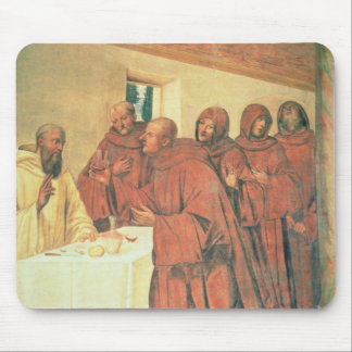 Taking Communion, from the Life of St. Benedict (f Mouse Pad