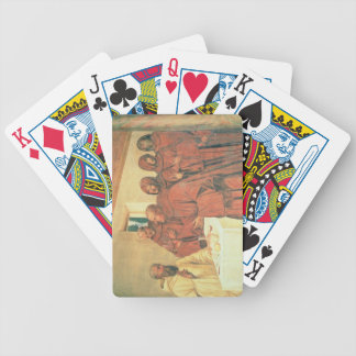 Taking Communion, from the Life of St. Benedict (f Bicycle Poker Cards