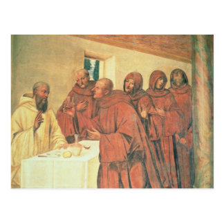 Taking Communion, from the Life of St. Benedict (f Postcard