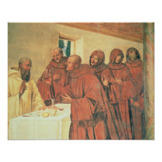 Taking Communion, from the Life of St. Benedict (f Poster