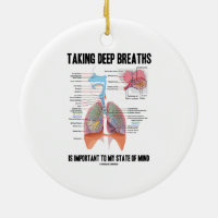 Taking Deep Breaths Is Important To My State Mind Double-Sided Ceramic Round Christmas Ornament