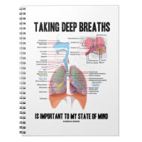 Taking Deep Breaths Is Important To My State Mind Notebook