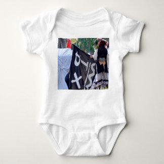 taking down pirate flag poster image baby bodysuit