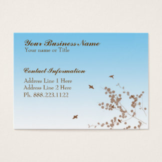 """Taking Flight """"Chubby"""" Business Cards"""