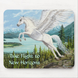 Taking Flight Pegasus horse fantasy mousepad