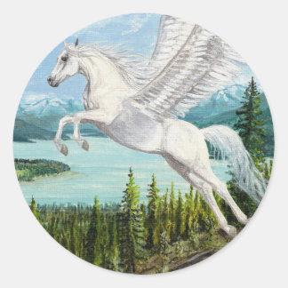 Taking Flight Pegasus horse fantasy stickers