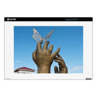 "Taking Flight sculpture 15"" Laptop Skin"