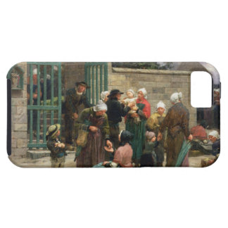 Taking in Foundlings (oil on canvas) iPhone SE/5/5s Case