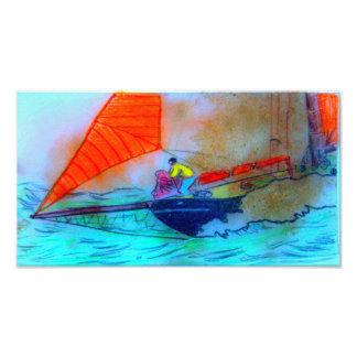 taking in the jib schooner sailing photo print