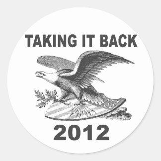Taking it Back 2012 Patriotic Sticker