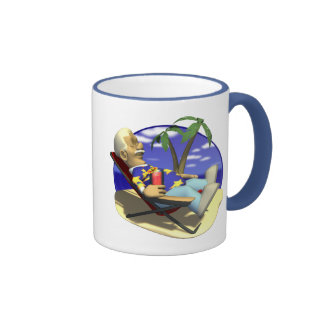 Taking It Easy Retirement Gifts and T-shirts Ringer Coffee Mug